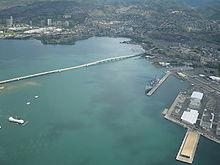 Aerial harbor photo
